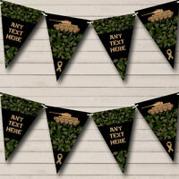 Party Banner Bunting Army Tank Green Camouflage Personalised Children's