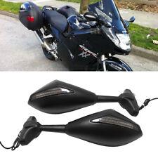 LED Turn Signals Motorcycle Mirror Matte Black For Honda cbr900rr/1100xx VFR 800