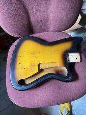 Vintage 1965 Silvertone Silhouette Harmony Bobkat Electric Guitar Body