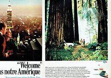 PUBLICITE ADVERTISING 126  1966  TWA (2p)  compagnie aérienne
