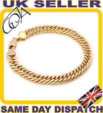 21,3/0,8 cm Classic Chain 18K Gold Filled Bracelet Exclus Jewelry Gift PRESENT G