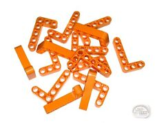 LEGO Technic - 15 x 'L' Studless Beams - 5x3, 7L - Orange - Liftarms - New