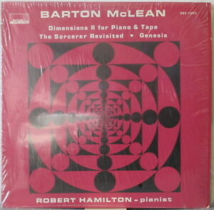 BARTON McLEAN Dimensions II for Piano &Tape etc LP Contemp. Classical/Electronic