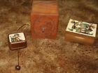 3+Vintage+Music+Boxes+Toystalgia+Etched+wood+design+%26+Bank+Hummel+Oscar+Heiss+