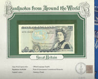 World Banknotes Great Britain 5 pounds 1980-87 P 378c AUNC Somerset KR75
