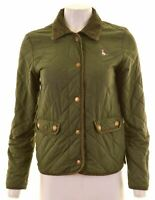JACK WILLS Womens Quilted Jacket UK 8 Small Green Nylon  KO13