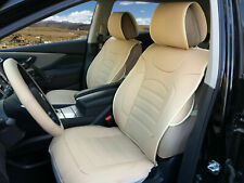 2 Front Tan PU Leather Car Seat Covers for Mitsubishi #805