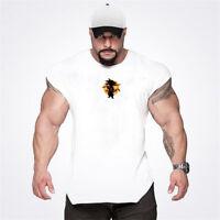 Men Gym Singlets Tank Tops Stringer Bodybuilding Fitness Vests Sports Clothes