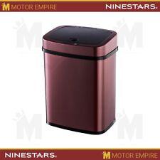 NINESTARS Automatic Infrared Motion Sensor Trash Can 3 Gal 12 L Burgundy Wine