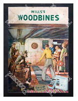 Historic Wills's Woodbine cigarettes 1930s Advertising Postcard