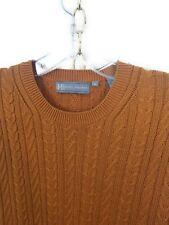 Hickey Freemen Silk Deep Burnt Orange Cable Knit Sweater Medium M to L