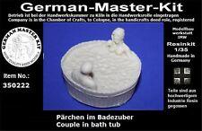 350222- 1:35, Pärchen im Badezuber Resin Rohling, Diorama Zubehör GMK World