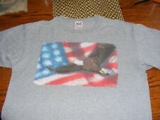 Men'S T Shirt American Eagle And United States Flag Anvil Size Large Gray