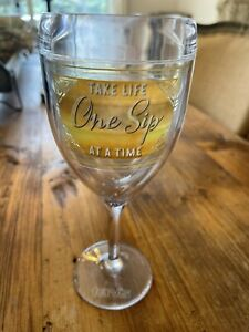 TERVIS Tumbler TAKE LIFE ONE SIP AT A TIME Wine Glass