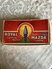 Vtg Xmas Royal Light Box Only-Great Graphics-Display/Storage