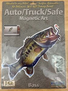 Rivers Edge Truck/Auto/Safe Magnetic Art Decal  BASS (NEW)