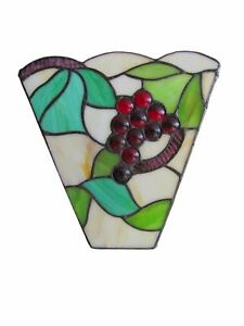 (CLEARANCE) Grape Design Stained Glass Tiffany Wall Shade GS04 RM27