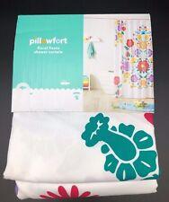 "Floral Fiesta Shower Curtain White & Pink - Pillowfort™ 72"" X 72"" New"