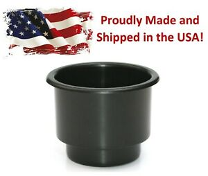 Black Recessed Drop in Plastic Cup Drink Holder Can Car Sofa Poker Table Boat RV