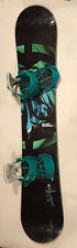 New listing Black and Green Never Summer Snowboard with Bindings 157 cm
