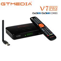 GTMedia Receptor TV Satelite DVB-S2/S2X DVB-T2 1080P HD Decodificador+ USB Wifi