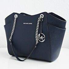 Original Michael Kors tasche handtasche jet set travel chain tote navy  neu