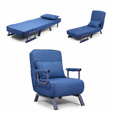Convertible Folding Sofa Bed Arm Chair Sleeper 5 Position Recliner Lounger Couch