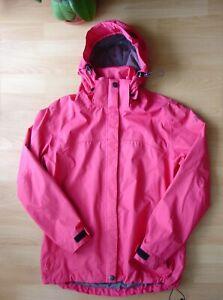 Wanderjacke, Outdoor Jacke mit Kapuze,  MAUL, Größe 42, Rot, gut erhalten