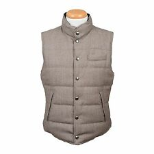 Brunello Cucinelli Down Reversible wool padded Puffer vest Jacket NEW M
