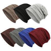 Women Men Slouchy Baggy Winter Cotton Beanie Knit Hat Oversize Skull Ski Hat Cap
