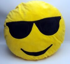 Coussin décoratif peluche Smiley doux oreiller Emoji émoticônes 30 cm quasi Neuf