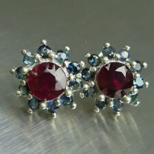 Butterfly Ruby Sapphire Fine Earrings