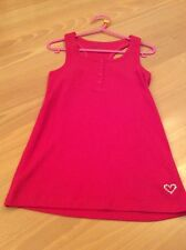 girls clothes 6-7 years Gap Pink Stretch Cotton Mix Ribbed Vest Top