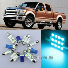 Ice Blue Car Light Interior Package for Ford F150 250 350 450 550 2013-2015 LA