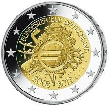 """2012 Germany 2 Euro Uncirculated Coin """"10 Years of the Euro"""" - Munich (D)"""