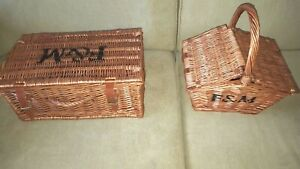 F&M FORTNUM AND MASON SMALL PICNIC WICKER BASKETS HAMPERS
