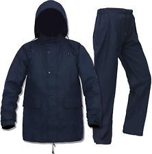 Rain Gear For Men Women Waterproof Fishing Rain Jacket With Waist Pants(Black, L