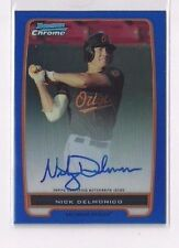 Nick Delmonico 2012 Bowman Chrome Blue Refractor RC Ref Auto #'ed /150 White Sox