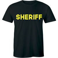 Sheriff Olive Law Enforcement Duty Police Cap Officer Uniform Gift Men's T-shirt