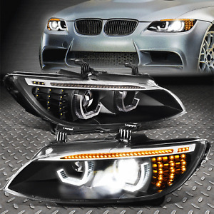 FOR 07-13 BMW E92 E93 SEQUENTIAL SIGNAL START UP LED DRL PROJECTOR HID HEADLIGHT