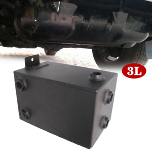 3L Black Car Modification Fuel Tank All Aluminum Thickened Auxiliary Fuel Tank
