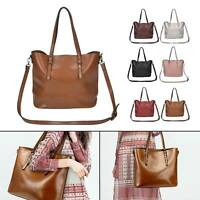 Large Women's Designer Leather Style Tote Shoulder Bag Satchel Ladies Handbag