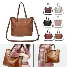 Large Women's Designer Leather Style Tote Shoulder Bag Satchel Ladies Handbag