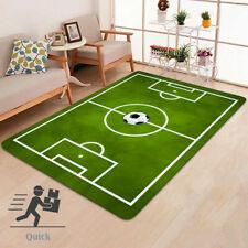 Green Football Soccer Pitch Rug Kids Play Floor Carpet Soft Bedroom Rugs50*80CM