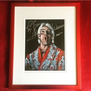 Ric Flair Signed Auto Bruce White Velvetmania 11x14 Art Print 16/35 1/1 WWE WCW