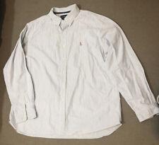 Ralph Lauren Men's Blue & White Striped Shirt Size XXL