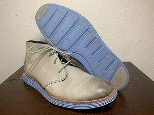 Cole Haan Lunargrand Chukka Leather Men C11718 Paloma Gray Leather Boots Size 13