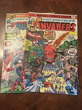 Lot of 2 Marvel The Invaders #5  6 comic books bronze age