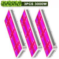 3PCS 3000W LED Grow Light Panel Full Spectrum Lamp for Hydroponics Indoor Plants