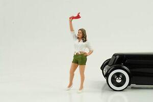 70`S Cool Girl Figurine Figurines Street Racing 1:18 American Diorama No Car